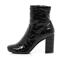 River Island croc ankle boots