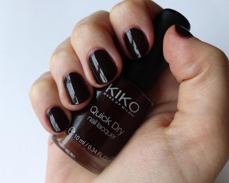 Kiko Quick Dry Nail Lacquer 812 Mahogany